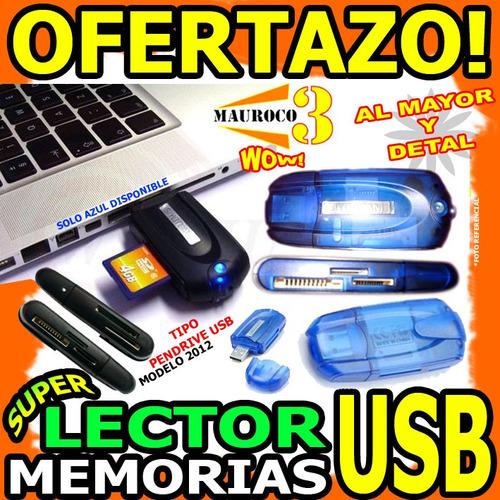 lector de memoria usb 43 en 1 microsd sd mini produo wow