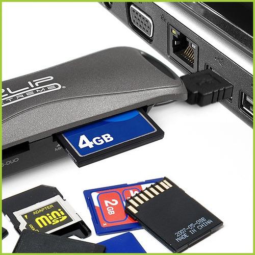 lector de memorias klip card reader usb 2.0 externo 54 en 1