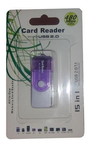 lector de memorias sd micro m2 usb 2.0 15 en 1 nuevos!