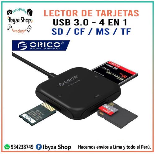 lector de tarjetas 4 en 1 - usb 3.0 sd / cf / tf / ms