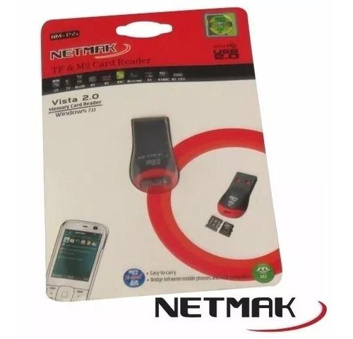 lector de tarjetas micro sd netmak nm-t55 m2/ micro sd x50u