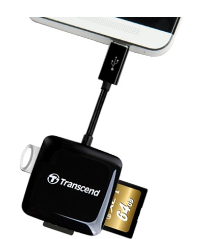 lector de tarjetas microusb otg transcend ts-rdp9k (gadroves