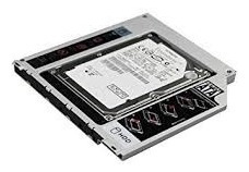 lector dvd 2do disco duro ssd 2.5 9.5 12.7 mm macbook caddy