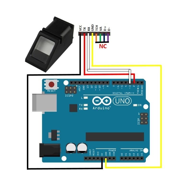 Lector Huellas Digitales Censor Biometrico Arduino 599