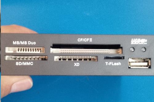 lector interno usb microsd t-flash sd ms ms-duo xd cf cf-ii