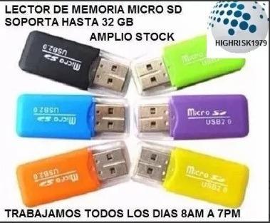 lector memoria micro sd microsd excelente calidad