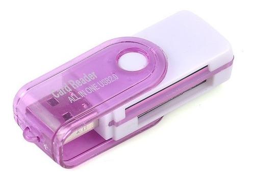 lector memorias usb microsd - sd  - m2 - mspro - nice home