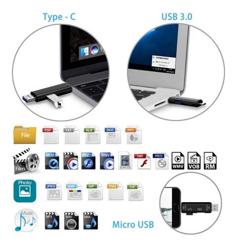 lector otg usbc tipo c 3.1 a usb 3.0 micro usb sd memoria ®