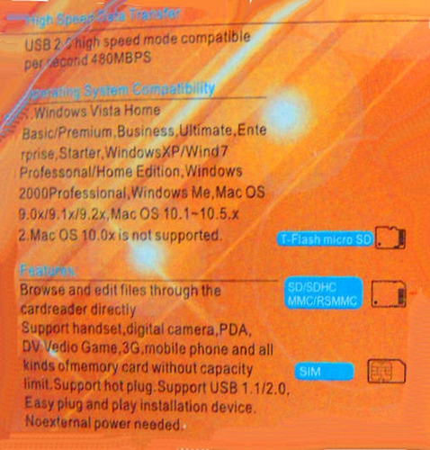 lector para puerto usb de tarjeta sim gsm, respalda copia...