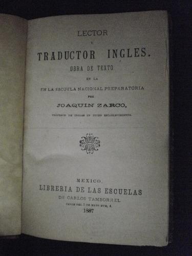 lector traductor de inglés- joaquin zarco