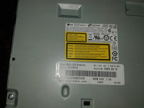 lectora y grabadora de dvd lg 16x