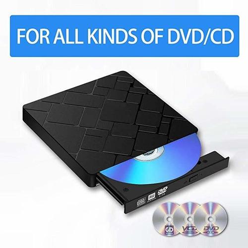 lectora y grabadora de dvd/cd, externa, usb 3.0
