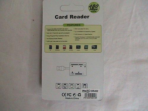 lectores de memorias usb 2.0 sd, microsd, minisd,msproduo,