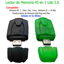 A1 Lector Memoria Externo Usb 43 En 1 - Sd - Microsd Y Masss