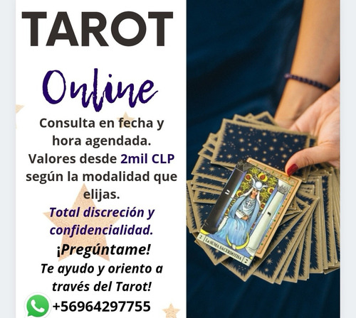 lectura de tarot online desde 2 mil pesos, consulta valores!