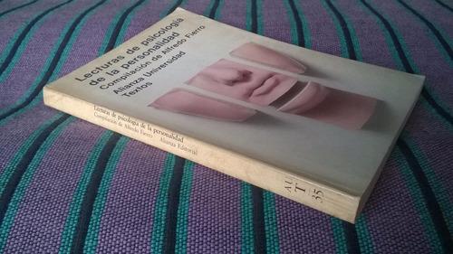lecturas de psicología de la personalidad - alfredo fierro