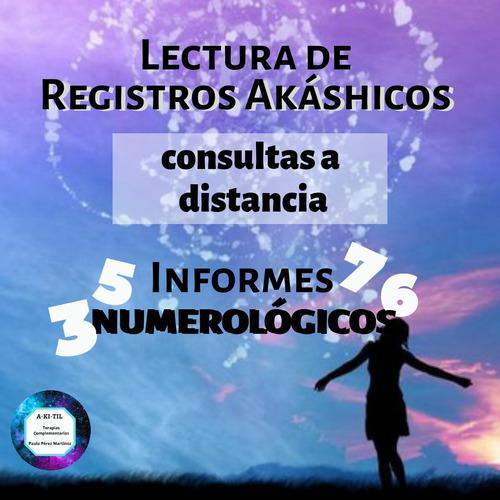 lecturas de registros akáshicos + informe numerológico