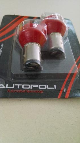 led 2 polos (lanterna/freio) vermelho - par