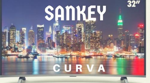 led 32 sankey diseño elegante curvo,usb,hdmi,vga,playsound