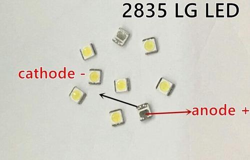 led 3v 1w tv lg 2835 3528 pacote 50 unidades