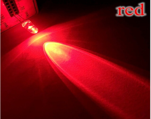 led 5mm alto brillo diodo rojo x 10 unidades
