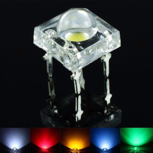led 5mm piraña 80 grados alto brillo colores a elección