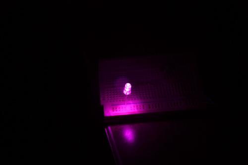 led 5mm  rosa paquete de 20 piezas