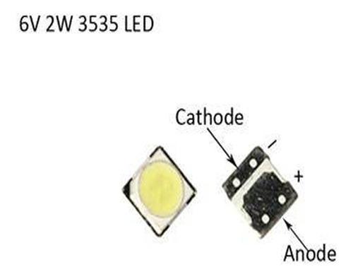 led 6v 2w 3535 blanco original backlight tv lg