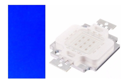 led azul royal  chip 10w  12v led 10w kit 10 unidades