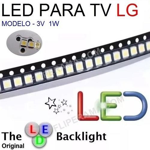 led backlight tv lg 2835_1w 3v 0,98 a unidade + frete gratis