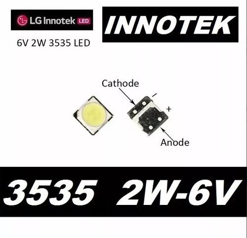 led backlight tv lg lb innotek 3535 smd 2w 6v 200ma original