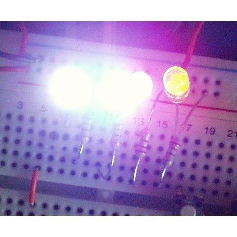 led blanco diodo 5mm alto brillo alta luminosidad x 100 unidades