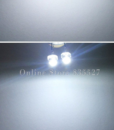 led blanco emisor ultrabrillante 5mm. sombrero de paja.