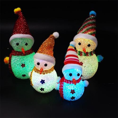 led brillante luz de noche de hombre de nieve para navidad