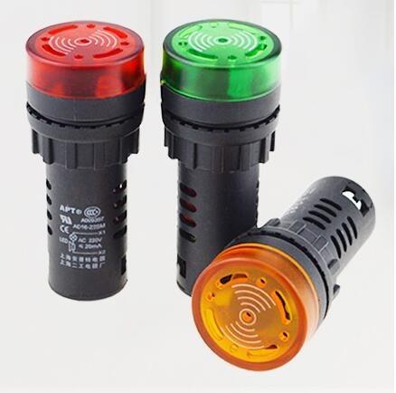 led buzzer - alarme audio visual (escolha cor/tensão)