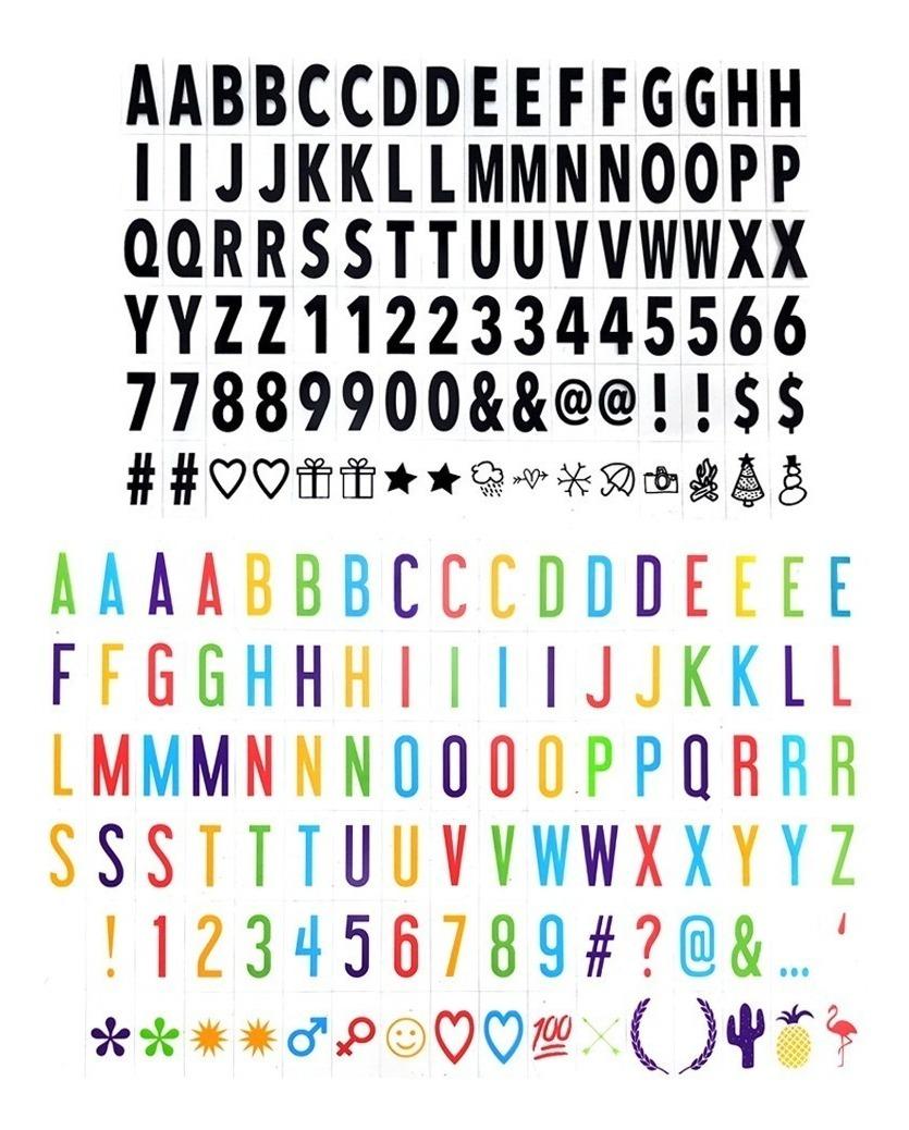 Led Caja D Luz Cambiables D Letras Simbolos Decoracion