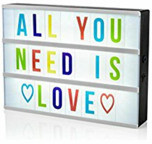led caja d luz con letras cambiables x dia d san valentin