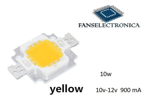 led chip 10w  amarillo 10-12v  450-540 lm