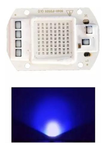 led chip cob 50w 220v ac azul 460nm driver integrado refleto