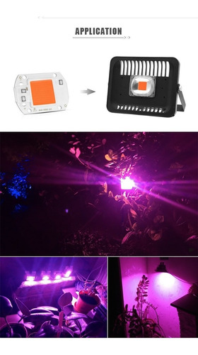 led cob 50w full spectrum cultivo indoor 220v pack x4 200w
