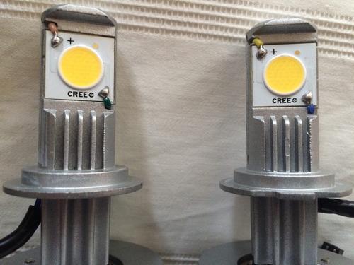 led cree headlight kit h7 50w 6000k 1800lm para autos, etc.