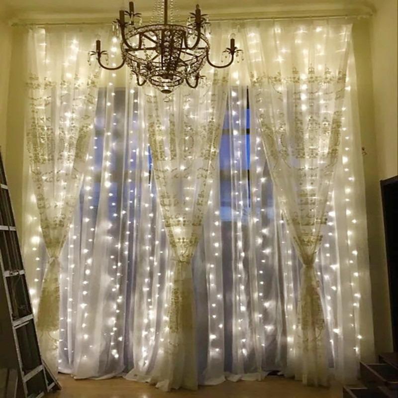 eb6abdbfc96 ... cortina de la ventana carámbano de luces 300 led. Cargando zoom.