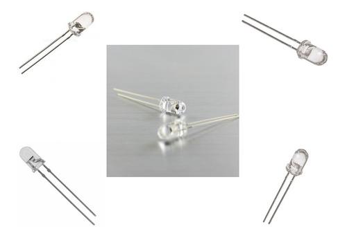led emisor de infrarojo (if) 5mm 940nm  pack de 5 unidades