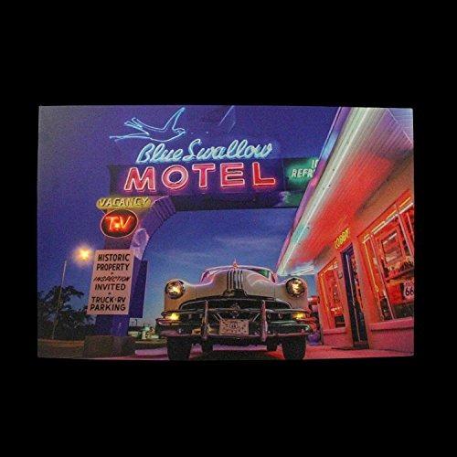 led encendió el motel azul famoso del trago con el arte clá