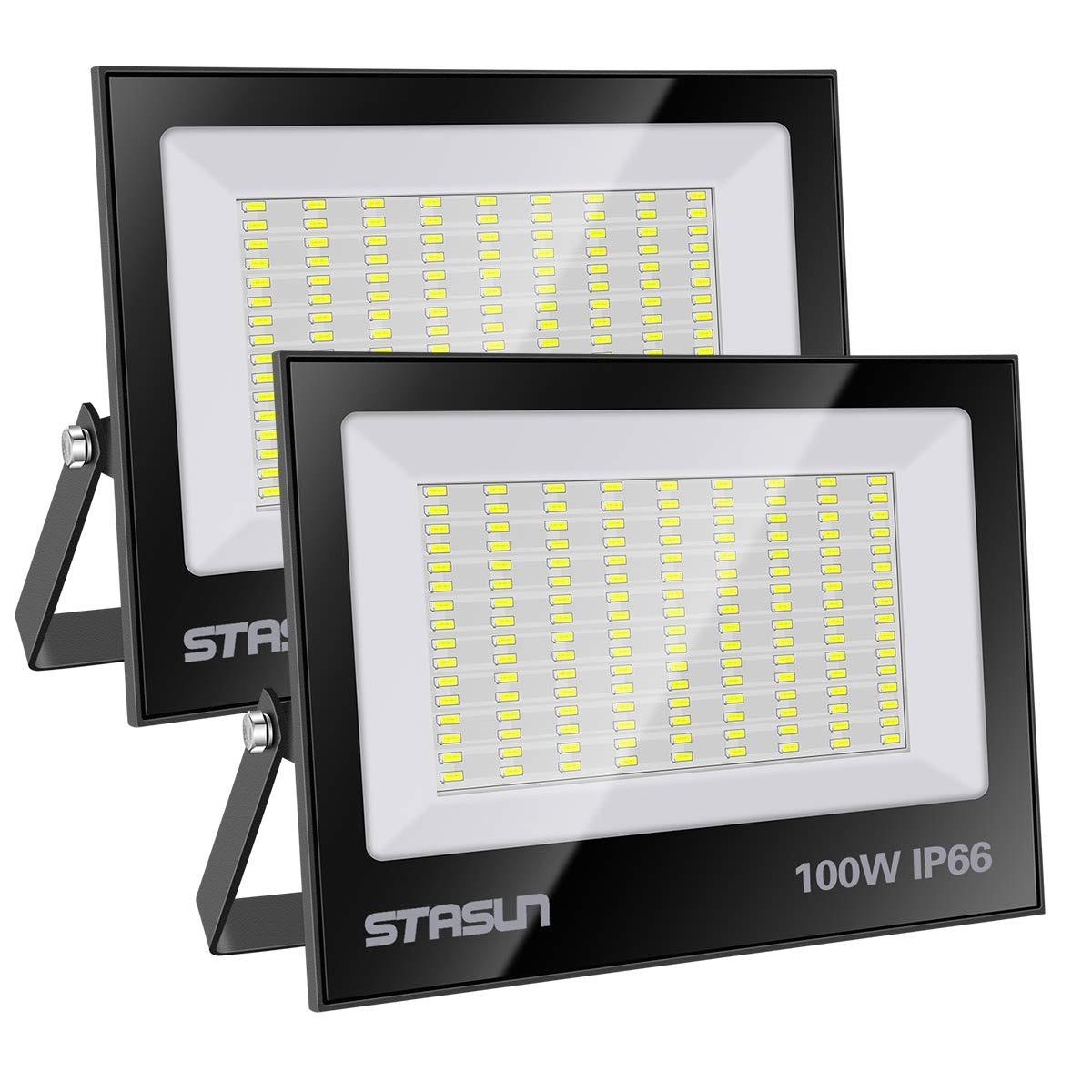 Image of: Led Flood Light Outdoor Stasun 2 Pack 100w Ip66 Waterproof 462 900 En Mercado Libre