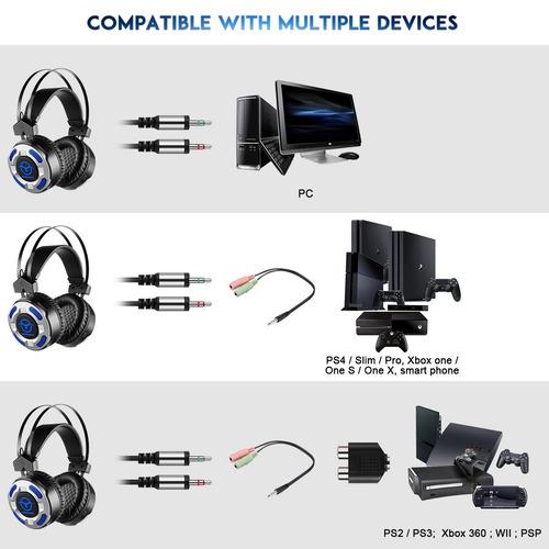 led gaming auricular para ps2, ps3, ps4 , ps4 delgado , ps4