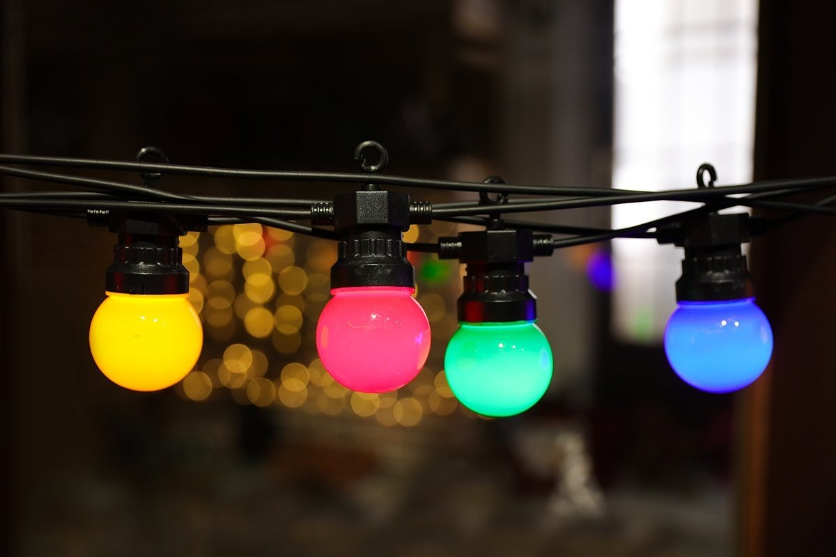 Led globe shaped light string outdoor or indoor lighting lar led globe shaped light string outdoor or indoor lighting lar cargando zoom aloadofball Images