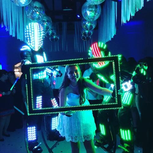 led led robot show robot