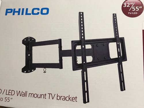 led lg 49 soporte movil marca philco, entrega stgo centro