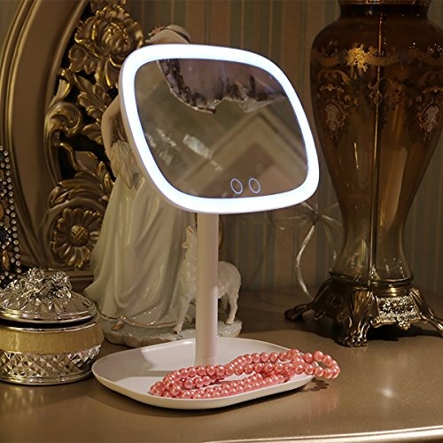 Led lighted vanity makeup mirror and table lamp touch contr led lighted vanity makeup mirror and table lamp touch contr aloadofball Images
